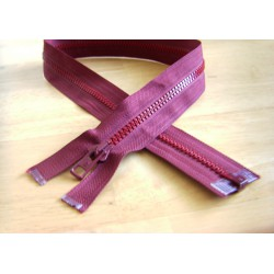chunky zip - open end - 65cm - burgundy color