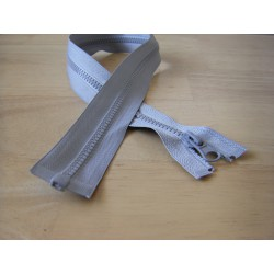 chunky zip - open end - 60cm - ligt grey