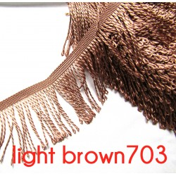 bullion fringe - light brown - 80mm