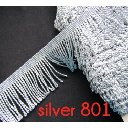 bullion fringe - silver grey801  - 80mm