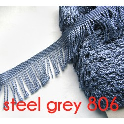 bullion fringe - steel grey806  - 80mm
