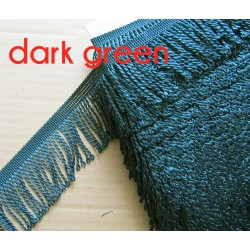 bullion fringe - dark green613  - 80mm