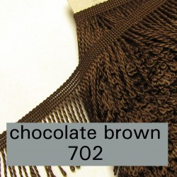 bulion fringe - chocolate brown 702 - 6cm wide