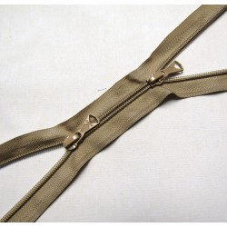 double slider zip - beige  -plastic zip - 130cm long