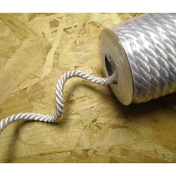 Decorative twisted rope 7mm - white