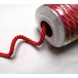 Decorative twisted rope  7mm - red