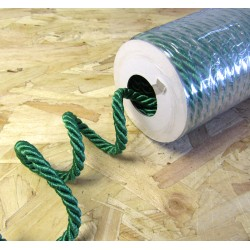 Decorative twisted rope  7mm - green