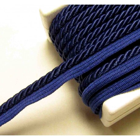 Twisted flanged rope  piping cord 7mm - navy524