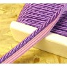 Twisted flanged rope  piping cord 7mm - intense lila