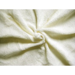 Flexible Terry Toweling Fabric - cream
