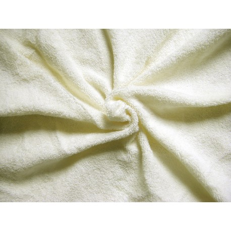 Flexible Terry Toweling Fabric - white