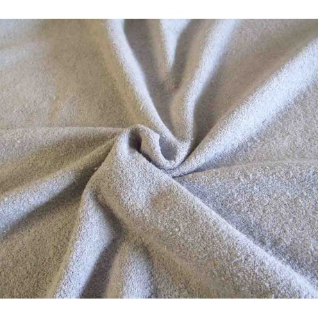 Flexible Terry Toweling Fabric - light gray