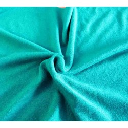 Flexible Terry Toweling Fabric - emerald