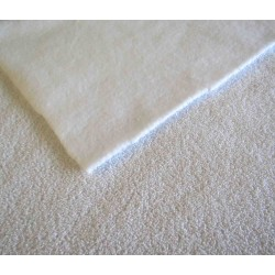 LUPER - Terry Toweling Fabric - white - fleece back
