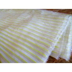 Ready pleated chiffon fabric - cream&yellow