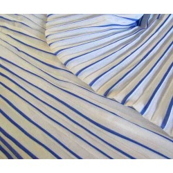 Ready pleated chiffon fabric - white& dark blue