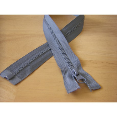 chunky zip - open end - 75cm - grey