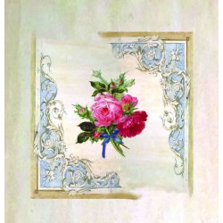 Schabby Chic Style Ready Panel - Bunch of Roses