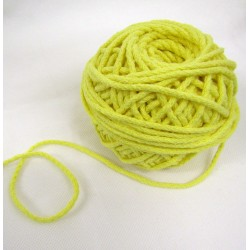 Braided Cotton Cord 3mm - light yellow