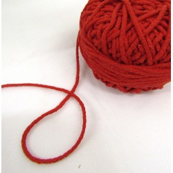 Braided Cotton Cord 3mm - red