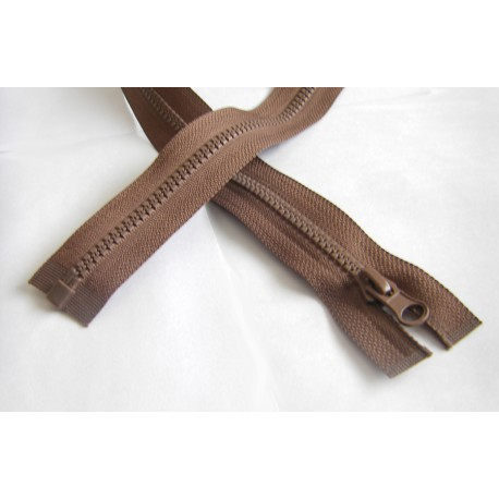 chunky zip - open end - 80cm - light brown