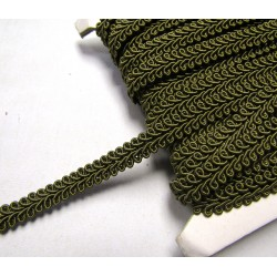 Gimp trim 10mm - khaki green