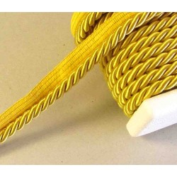Thick flanged rope  piping cord 8mm -  gold