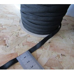 black flat elastic - 7mm