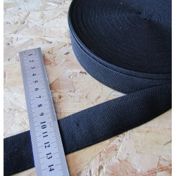 black flat elastic - 35mm