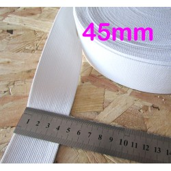 black flat elastic - 45mm