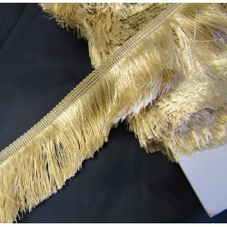 silky cut fringe - beige - 60mm