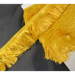 silky cut fringe - gold - 60mm