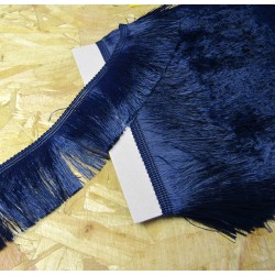silky cut fringe - navy - 60mm