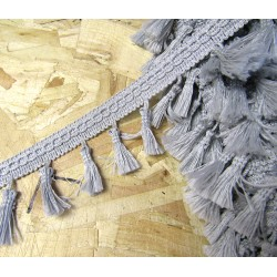 Tassels trim - silver grey