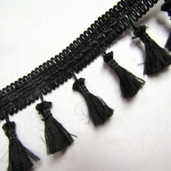Tassels trim - black