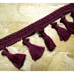 Tassels trim - burgundy 317