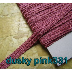 Gimp trim 15mm - dusky pink 331