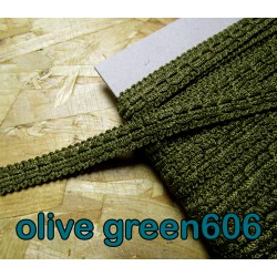 Gimp trim 15mm - olive green 606