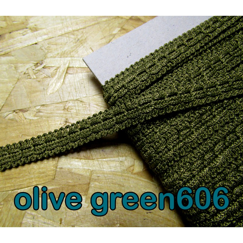 Olive Green 5cm Beaded Fringe//Trim   Sewing//Costume//Crafts//Corsetry