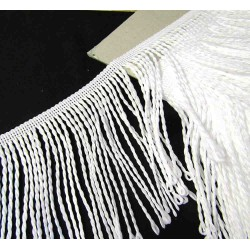bullion fringe - white - pearl 001 - 120mm