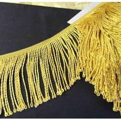bullion fringe - white - silver grey - 120mm