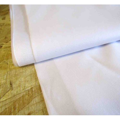 Waterproof  Canvas fabric -  white