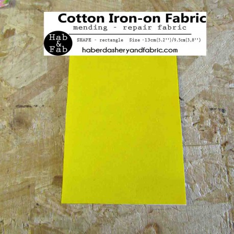 Iron-on  repair fabric - light yellow
