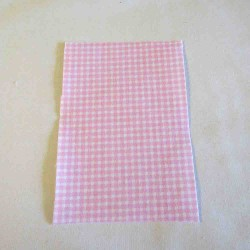 Iron-on  repair fabric - red gingham