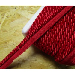 Thick flanged rope  piping cord 8mm - red