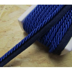 Thick flanged rope  piping cord 8mm - royal blue