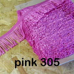 bulion fringe - pink 305  - 60mm wide