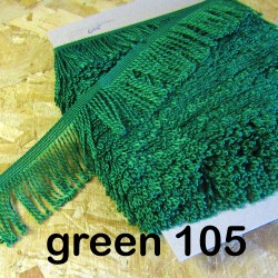 bulion fringe - green 105  - 60mm wide