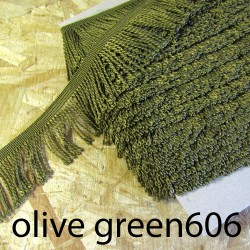 bulion fringe - olive green 105  - 60mm wide