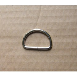 Silver Metal  D ring - 28mm